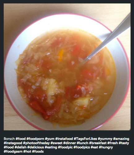 Borscht is one of the least Instagrammable foods in the world, but this is a new low.