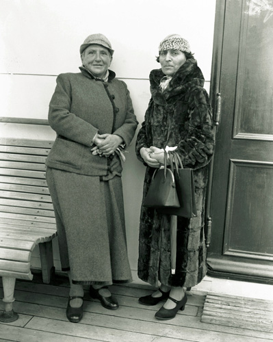Gertrude Stein (left) and Alice B. Toklas, who included a no-cook cannabis recipe in her 1954 volume, The Alice B. Toklas Cookbook.