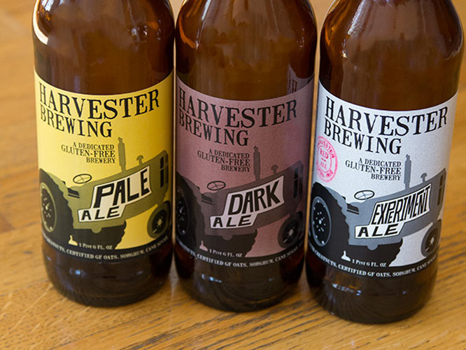 Harvester Brewing Pale, Dark, and Experimental Ale. (Photo: Maggie Hoffman)