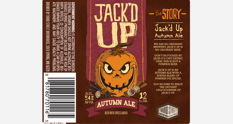 It's STILL not close to pumpkin beer time, but the labels are rolling in, and this one's an early favorite.