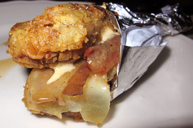 """The Foie Gras Double Down at Joe Beef.  """"We first did it as a joke,"""" mylifeisfood.blogspot.com)"""