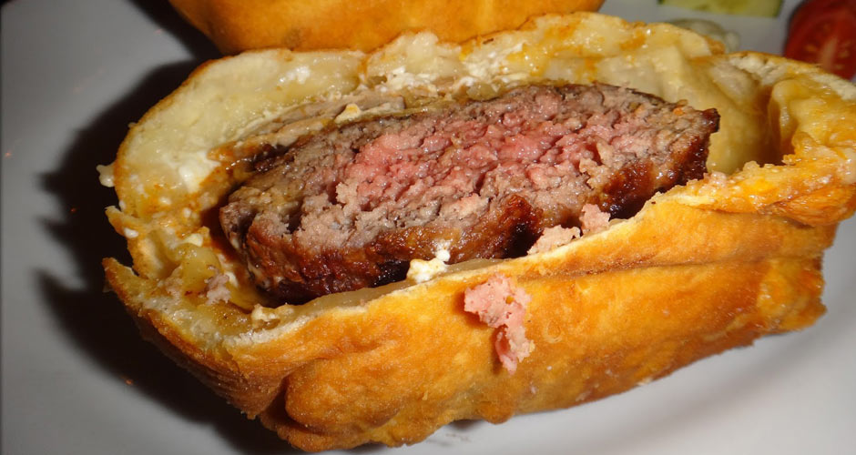 The Deep-Fried Burger at Korzo Haus. The fried burger at this Eastern European restaurant in NYC started off as a special, but since customers kept asking for it, they made it a permanent part of the menu. (Photo:
