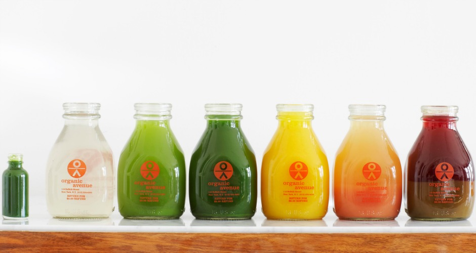 """Name: Organic Avenue Website: OrganicAvenue.com Least Expensive Item: $7 for a 14oz bottle of Matcha Chia Glo Most Expensive Item: $13 for a 15oz bottle of Coconut Mylk Good For: Juice-cleanse nuts who will never put a price on """"looking fabulous."""" Lululemon gear and a Soho address optional."""