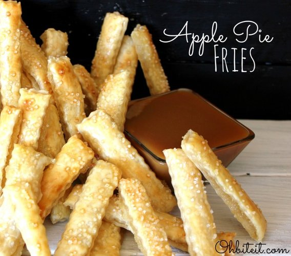 Apple Pie Fries. Another spin on the fry-cookie idea, these win because of their dipping potential. Don't pretend that waffle sticks didn't blow your eight-year-old mind. Serve these with some caramel sauce or ice cream and you can achieve the same childlike joy. Get the recipe at