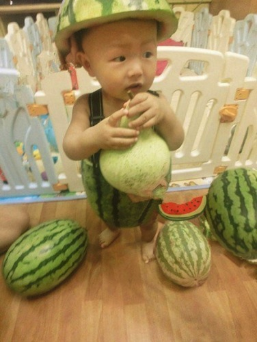 He thinks watermelon shorts are just alright! (via