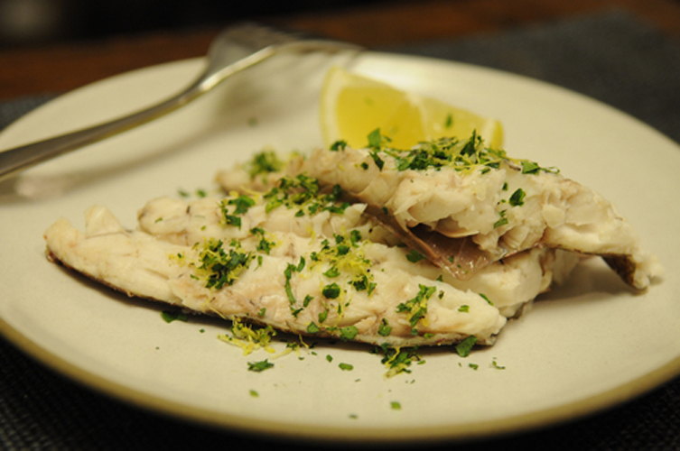 Whole Baked Fish in Sea Salt with Parsley Gremolata. This salt-crusted fish remains tender and moist while the gremolata brightens up the flavors. It's a dish that is as crisp and clean as your outfit.