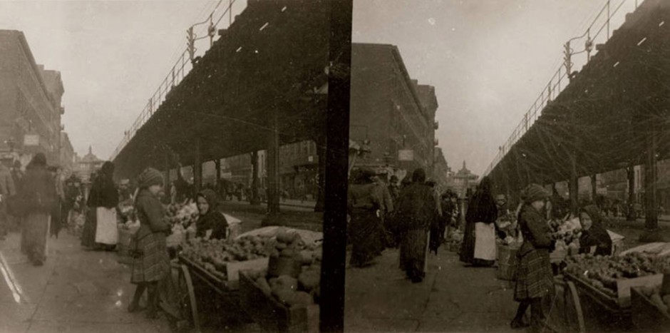 New York City: pushcart market, First Ave and 14th St, undated. (Photo: Frank M. Ingalls)