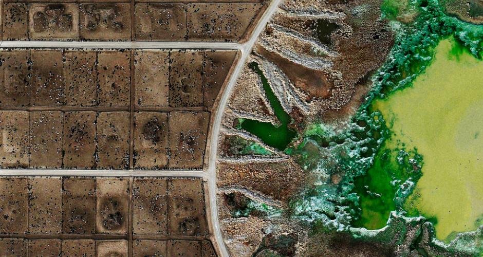 Tacosa Feedyard's waste lagoon, Texas (Photo: Mishka Henner)