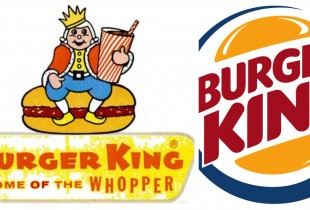 Burger King. Left: 1957, Right: 2013. (Photos: Logo Wikia, Vector Fans)