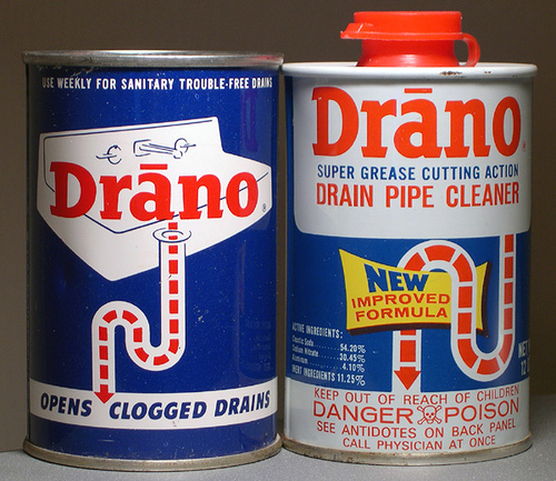Non-food: Drano  Where you find it: Under your sink.  What if you eat it? If the internal bleeding and chemical poisoning don't kill you, the reconstructive surgery you'll need (if it's even possible) to recreate your digestive tract may...If ingested, Drano will dissolve your digestive tract and leave you without an esophagus, stomach, and likely your intestines. Urban Myths)