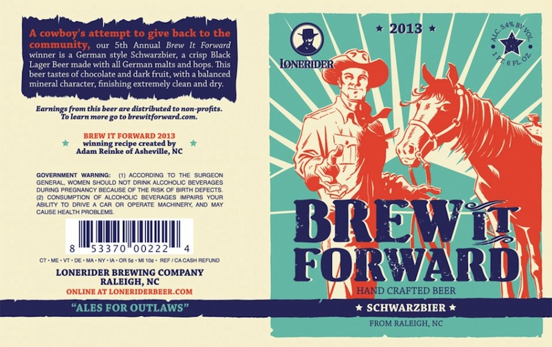There aren't nearly enough cowboys on beer label.