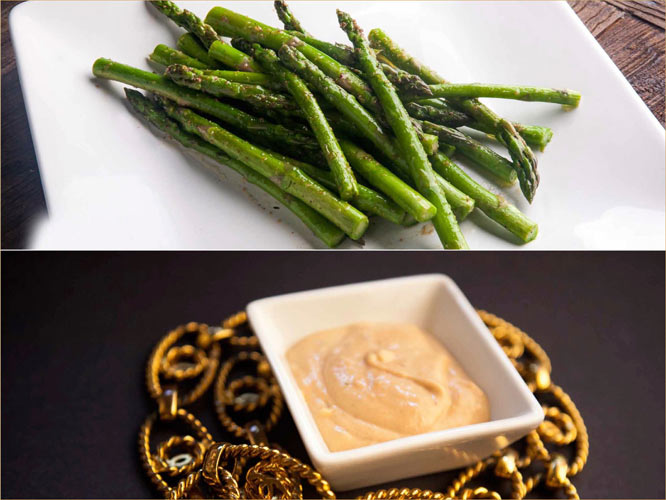 """Sauteed Asparagus with """"ME TIME"""" Sauce. (Photo:"""