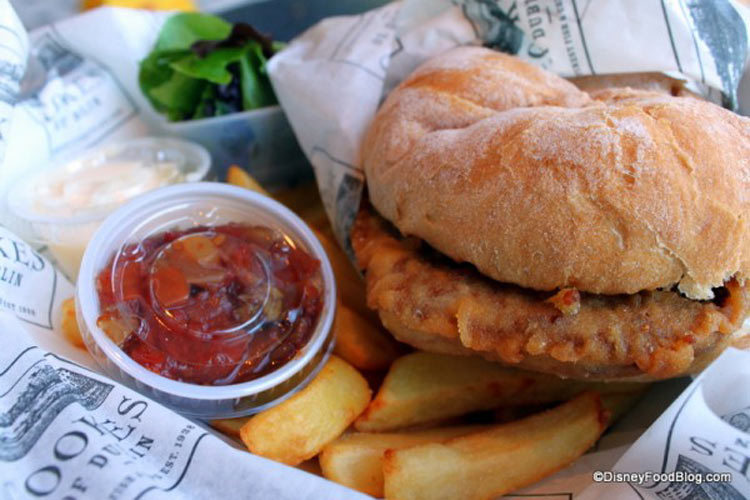 The Battered Burger (Photo: Disney Food Blog)