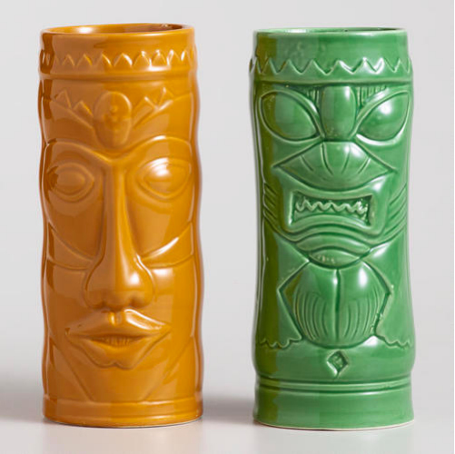 Colorful ceramic mugs to match all your fruity, tropical drinks. Available at World Market