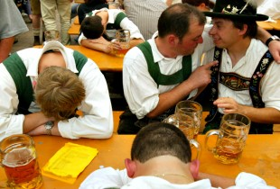 In years to come, they will always wonder what, exactly, went down between the two of them at Oktoberfest. (Photo: Getty)