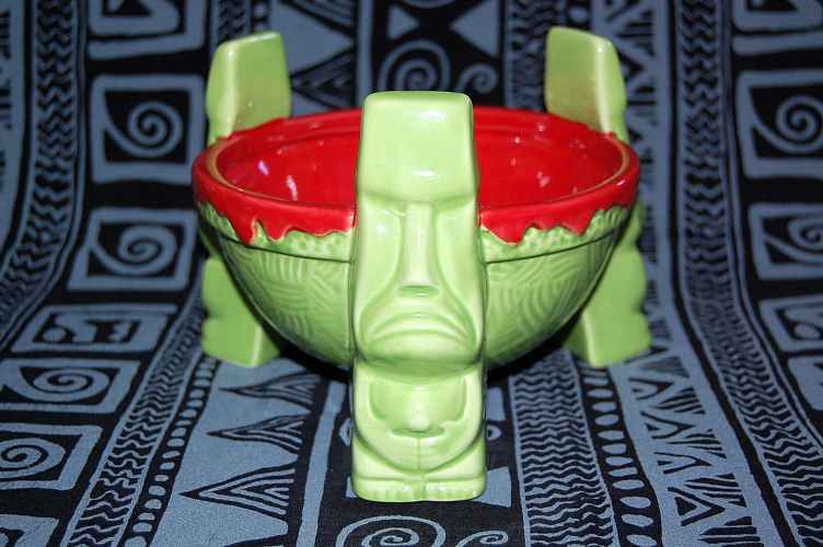 Even though the tiki heads do not look impressed, your punch will look impressive in this scorpion bowl. Available at Ebay