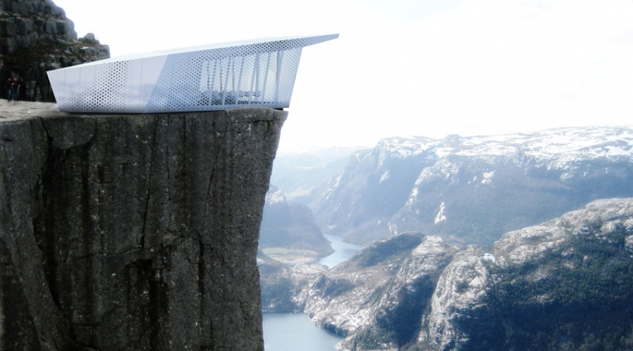 The Cube, moveable. Swedish appliance company Electrolux commissioned this movable restaurant called The Cube to be perched atop mountains and sky scrappers throughout the world. It's 140 sq meters and seats 18 people.(Photo: