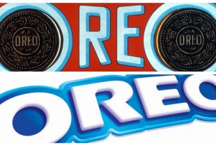 Oreo. Top: 1923, Right: 2013(Photos: Logopedia, Flickr)