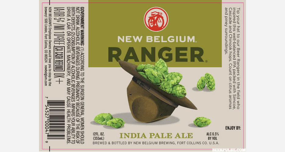 New Belgium takes two spots this week—this hat o' hops is quite excellent.