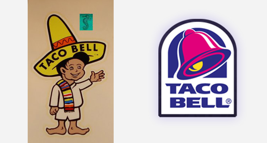 Taco Bell. Left: 1963. Right: 2013. (Photos: