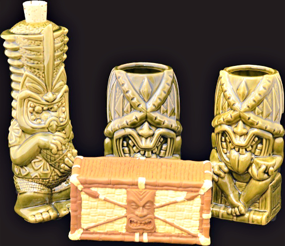 These tiki bar mugs have their own mini tiki bar to hang out at. Meta. Available at Amazon