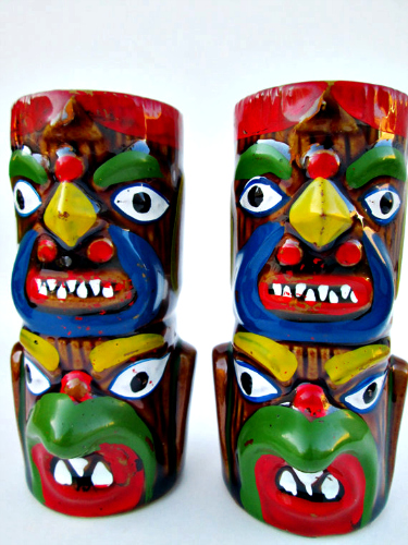 Don't let the unsettling smiles fool you—these totem gods can be your friendly salt and pepper shakers. Available at Etsy