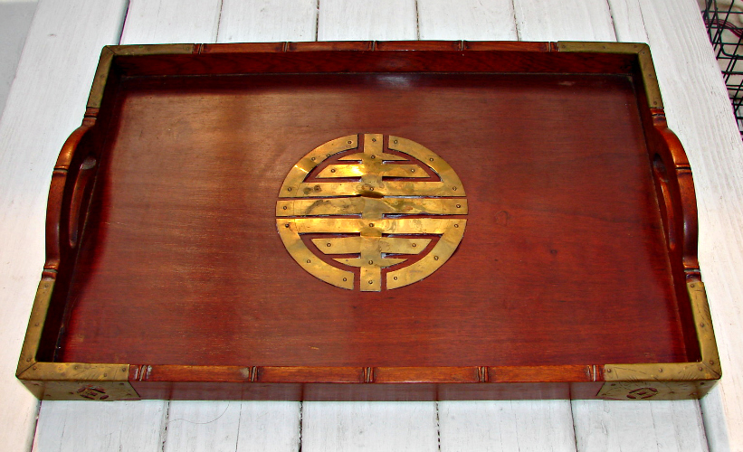 This tray will give drinks a tiki-style foundation at your bar. Available at Ebay