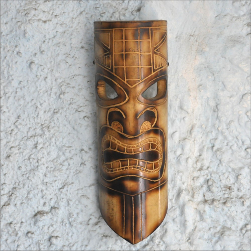 This tribal mask is an ideal addition to your tiki bar decor. Available at Aniika
