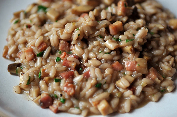 Risotto Rosso. We love the savory, earthy, acidic taste of this risotto, which is rich without being too intense. The carnaroli rice keeps its structure without being crunchy, so the resulting dish is creamy, not gluey.