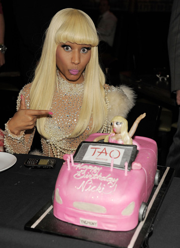 Who: Nicki MinajLevel of absurdity (0-10): 9 Needless to say, Tao should have made a Nicki Minaj booty cake instead of this piece of crap.  (Photo: Getty Images)