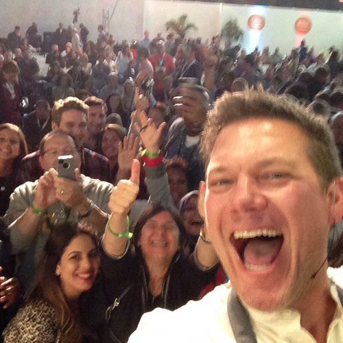 Tyler Florence wins most insane selfie of the festival. (Photo: