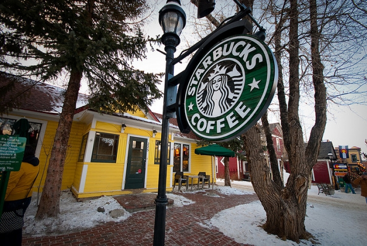 This adorable little house burrowed in Breckenridge, CO is in fact a Starbucks. (Photo: