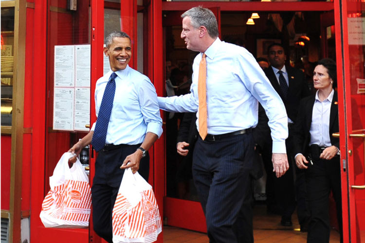 But what did Obama actually do? He went to Junior's. Amateur move, Mr. President. (Photo: