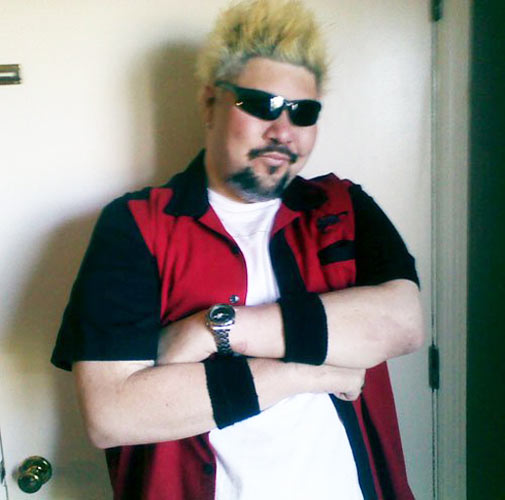 We found this Guy Fieri impersonator on a blog called Bitchin' Lifestyle #appropriate