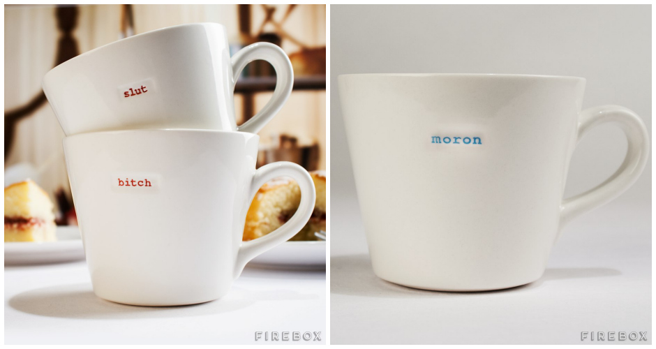 """Bring a little attitude to work with """"crude crockery."""" Available at: Firebox. (Photo: Firebox)"""