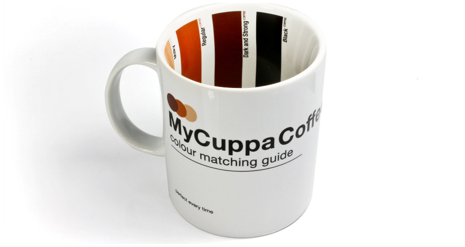 My Cuppa Coffee—which also comes in a tea-drinkers'  edition—offers a Pantone-style color guide to milk/coffee ratios. Simply follow the color guide while adding cream for the perfect cup, just the way you like it.  Available at: Amazon. (Photo: Amazon)