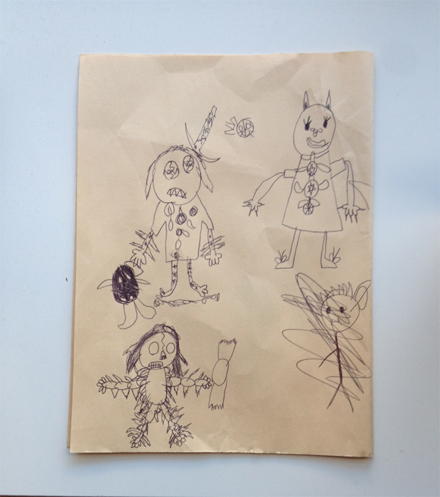 A Halloween drawing by the twins.
