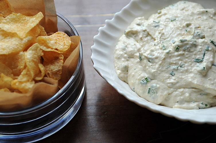 Caramelized Onion Dip. You'll never go back to pre-made, store-bought onion dip again. The sweetness of caramelized onions infuses the entire dip, while classic onion dip ingredients—sour cream, cream cheese, and chives—pull the flavors together into a recognizable whole. Try it with your favorite chip or break out the carrot and celery sticks.