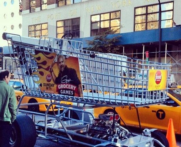 Guy Fieri's hot-rod shopping cart—hop in and drive off the George Washington Bridge! (Photo: