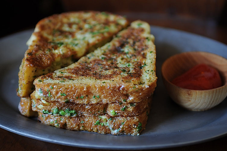 Crispy Salt and Pepper French Toast. Salty with a heavy kick of black pepper, this recipe might just make you forgo sweet french toast from now on. And—dare we say it?—two slices would make a mean base to a monte cristo.