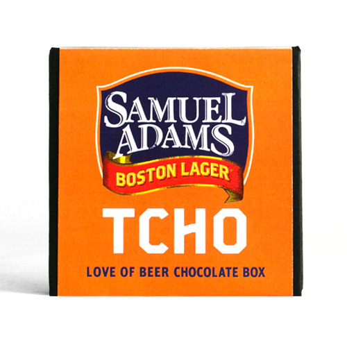 Tcho beer chocolate. Tcho is the San Francisco tech scene's answer to the chocolate industry, with neat  packaging and user-friendly flavor guides in place of esoteric cacao percentages. The collabo with Sam Adams is a nice thing to put out at an adult Halloween party.