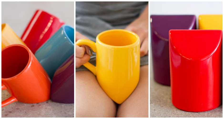 For the bookworm, the lazy coffee drinker, and the eternally cold—the lap mug is specially shaped to allow you to rest the bottom in the gap between your legs. Beware of burns. Available at: Room 2046. (Photo: Room 2046)