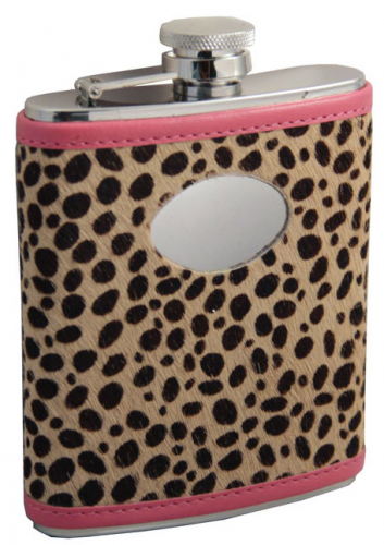 This leopard print flask is perfect for your d-bag lady friend who likes to swig vodka while getting her nails done. Available at: EFlasks)