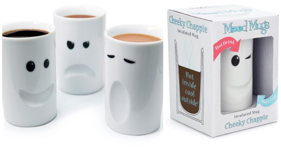 Don't feel like talking? Let everyone know how you feel with a mood mug. It's like a mood ring...for adults. Available at: Thabto. (Photo: Thabto)