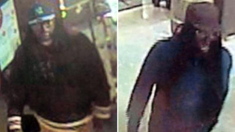 Surveillance footage of the two suspects who robbed the Bowery Whole Foods on Sunday night. (Photo: NBC)