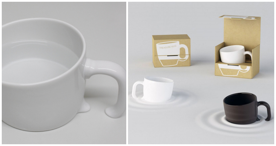 We just found your next April Fool's prank. These mugs, which come in brown and white, appear to be sinking into the table. Make your coworkers do a double take. Available at: Japan Trend Shop. (Photo: Japan Trend Shop)