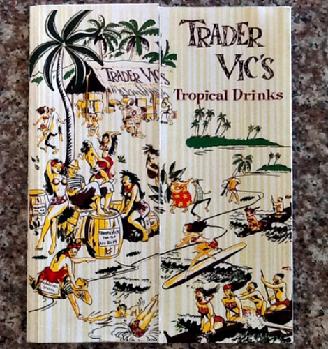 Get the fundamentals down with this vintage drink menu from the legendary tiki bar, Trader Vic's. Available at Ebay