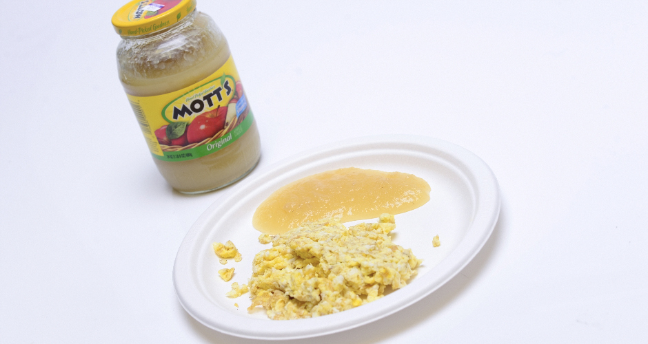 """Kids food #3: """"Applesauce on top of my scrambled eggs""""Who ate it?: Tony Markovich (Rides editor"""