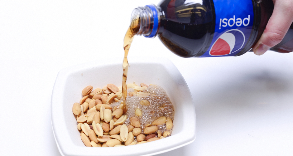"""Kids food #5: """"Spanish peanuts soaked in Pepsi""""Who ate it?: Larry Hester (Video Games editor"""