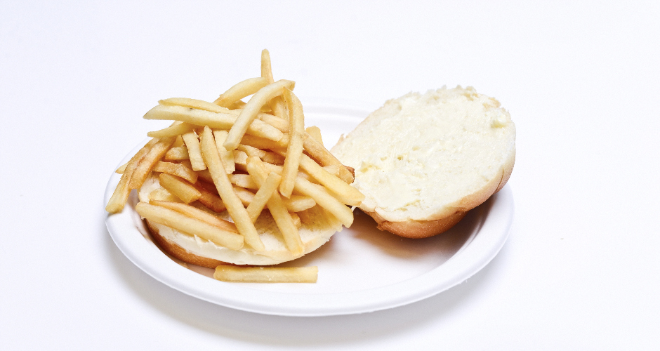"""Kids food #4: """"Buttered roll with french fries""""Who ate it?: Shanté Cosme (City Guide editor"""